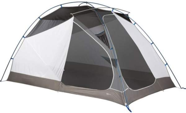 The Optic 6 tent shown without the fly. The two doors are next to each other.