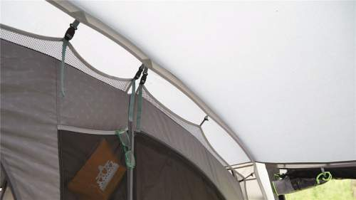 The inner tents are attached to the shell tent.