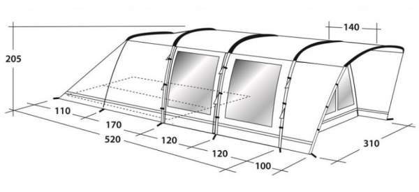 Some more dimensions to understand the comfort which this tent offers.