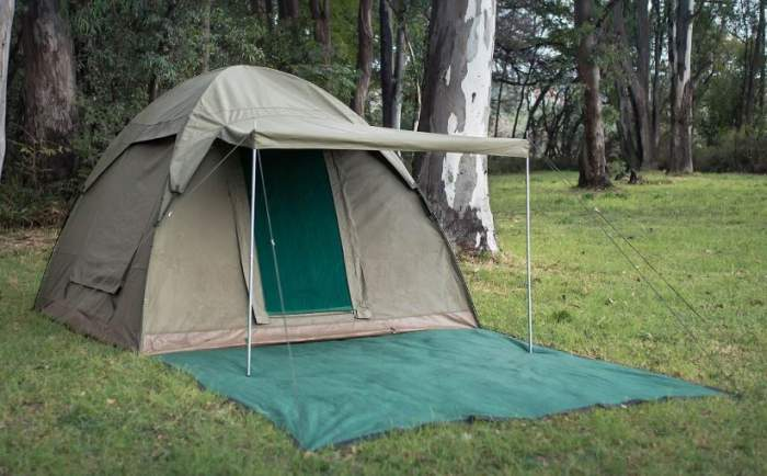 Bushtec Adventure Alpha Kilo 4000 Canvas 6 Person Bow Tent.