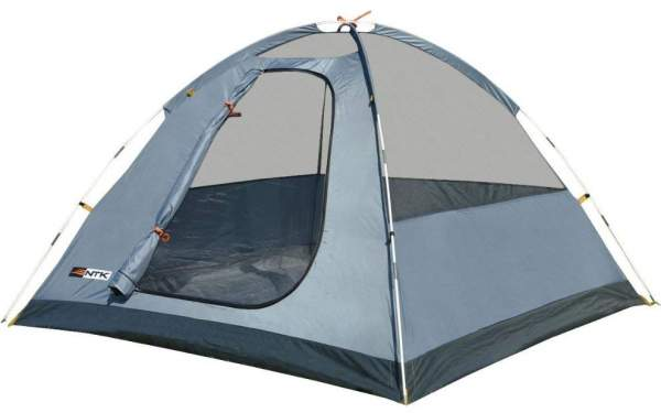 The tent shown without the fly - a simple dome structure.