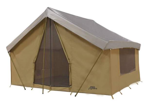 Trek Tents 246C Cotton Canvas Cabin Tent – 10 x 14 Feet.