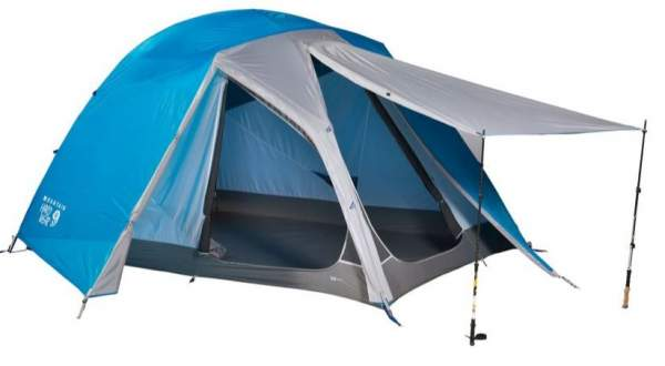 Semi-freestanding - Mountain Hardwear Optic 6 Tent.