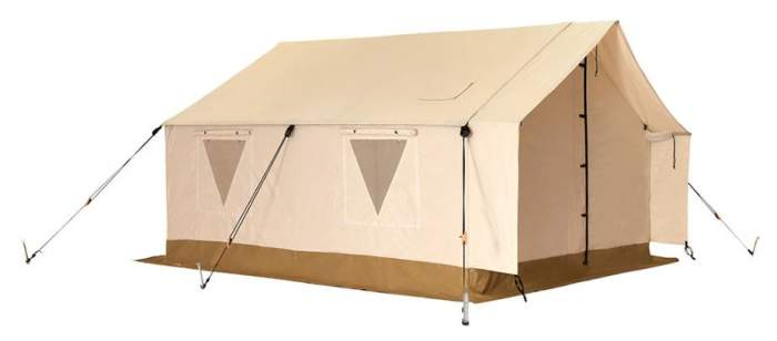 White Duck Outdoors Complete Canvas Wall Tent with Aluminum Frame and PVC Floor for Elk Hunting, Outfitter and Camping.