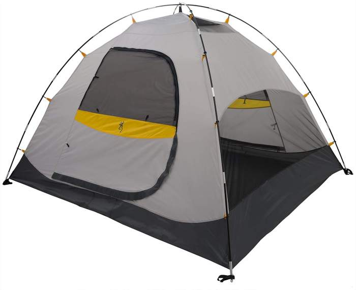 The Hawthorne 6 tent shown without the fly.
