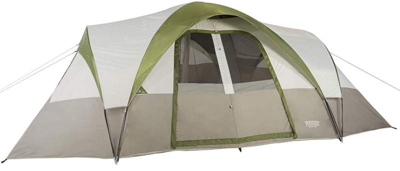 This is Mammoth 16 tent from one side, with the fly on.