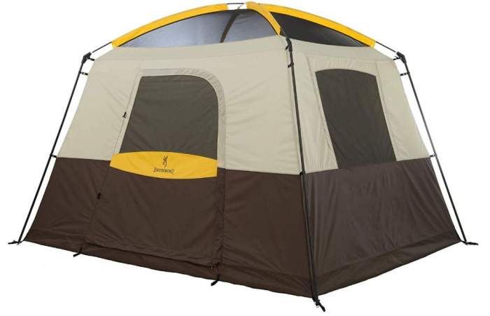 Big Horn 5 Person Tent shown without the fly.