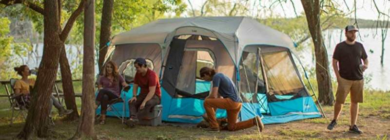 CORE Lighted 9 Person Instant Cabin Tent - 14' x 9'