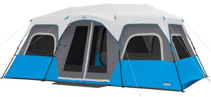 Core Lighted 12 Person Instant Cabin Tent
