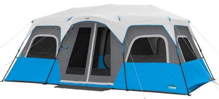 Core Lighted 12 Person Instant Cabin Tent.
