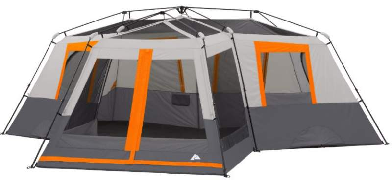 This is the tent shown without its minimal fly.