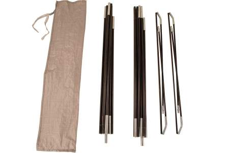 Two main poles plus two brow poles.