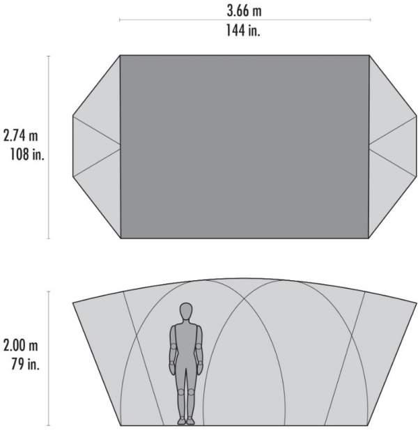 MSR H.U.B. 8 tent dimensions.