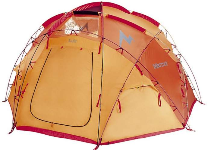 This is Marmot Lair 8 tent shown without the fly.
