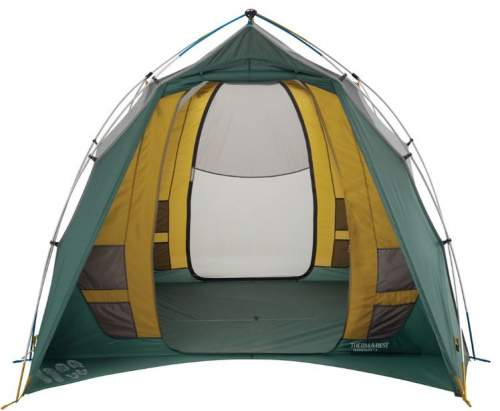 Front view through the tent.