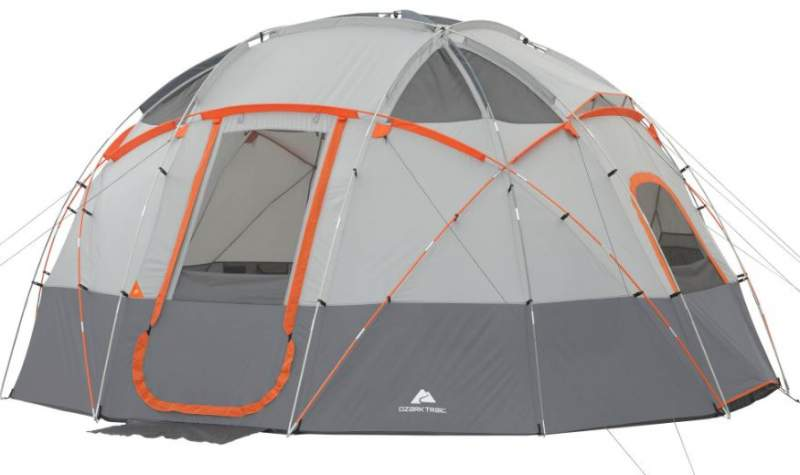 Ozark Trail 12-Person Base Camp Tent with Light.