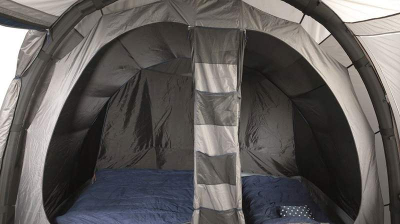 View inside - the inner tent with two doors and storage pockets.