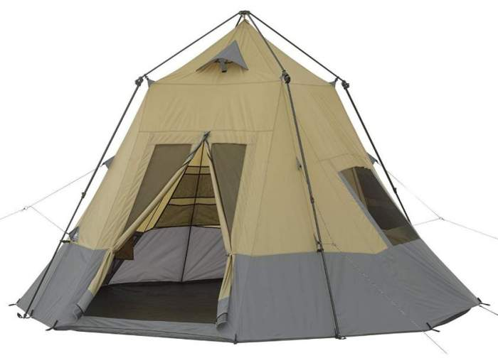 Ozark Trail 12 x 12 Instant Tepee Tent.