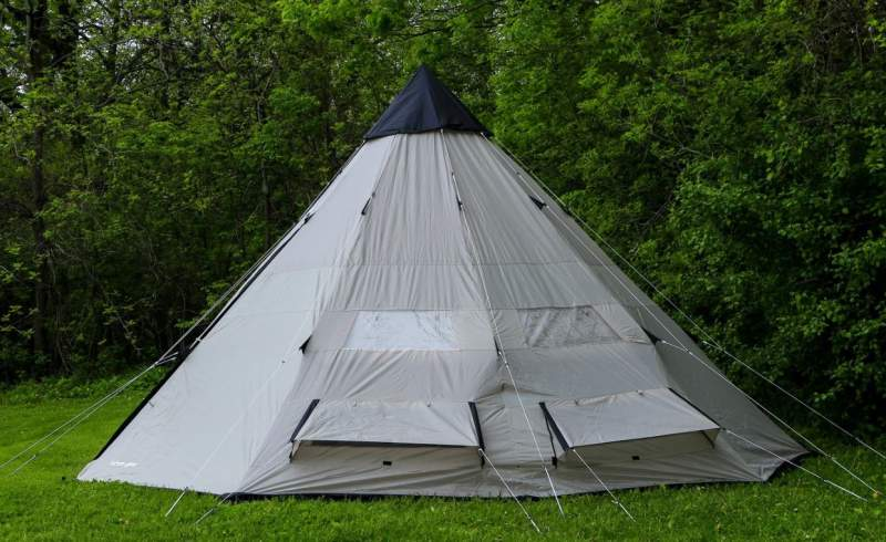 Tahoe Gear Bighorn XL 12-Person Teepee Tent.