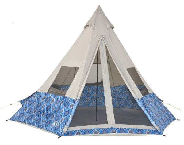 Wenzel 11.5 x 10 Foot Shenanigan 5 Person Teepee Camping Tent.