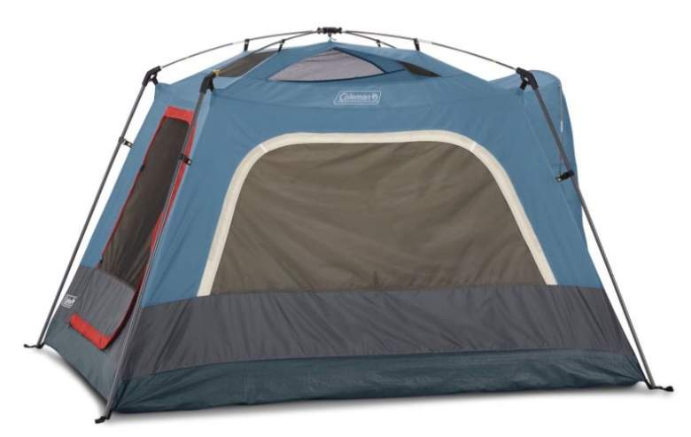 Coleman 3-Person Connectable Tent without the fly - freestanding cabin.