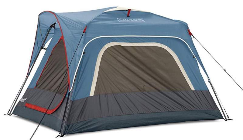 The 3-person connectable tent, front/side view.