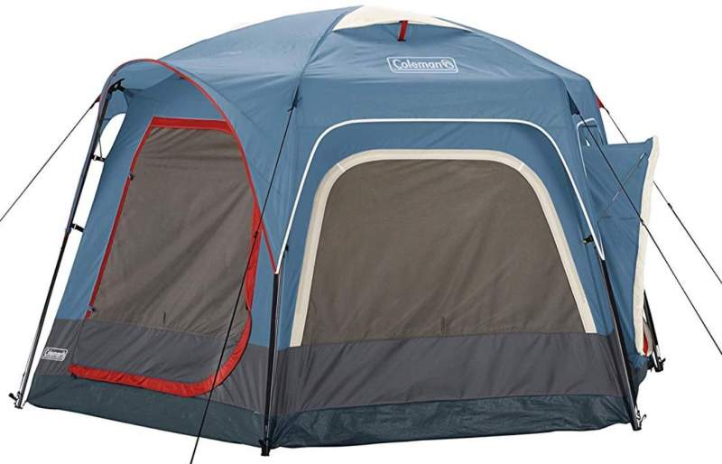 Coleman 6-Person Connectable Tent front view.
