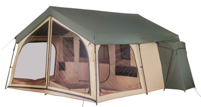 Ozark Trail 14 Person Spring Lodge Cabin Camping Tent.