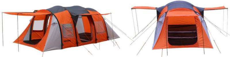 Awning configurations with all three doors.