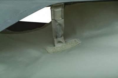 Vents with Velcro stiffeners.