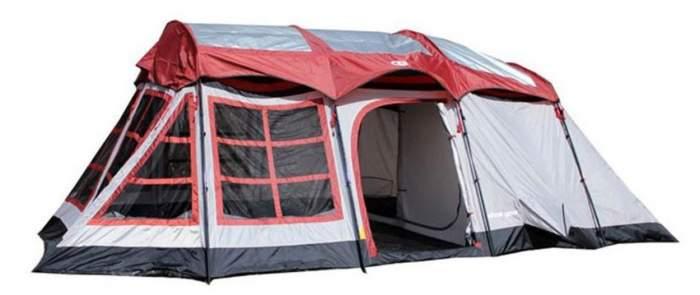Tahoe Gear Glacier 14 Person 3-Season Family Cabin Camping Tent.