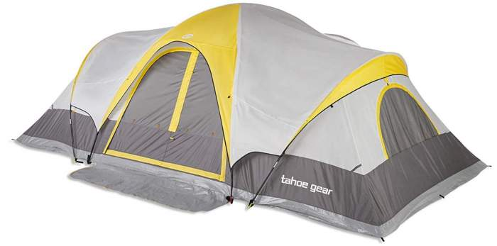 Tahoe Gear Manitoba 14-Person 20' x 17' Family Outdoor Camping Tent.