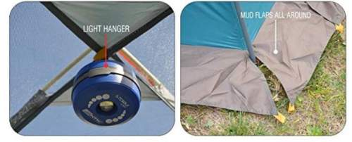 The lantern loop, and the skirt around the tent.