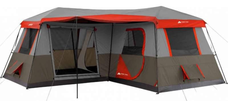 Ozark Trail 12 Person Instant Cabin 16 x 16 3-Room Tent.