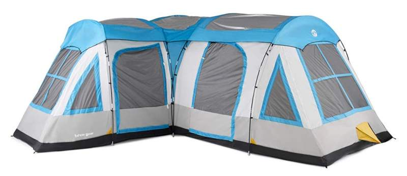 Tahoe Gear Gateway 10 to 12 Person Deluxe Cabin Family Camping Tent.