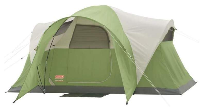 Coleman Montana 6 Person Tent front view.