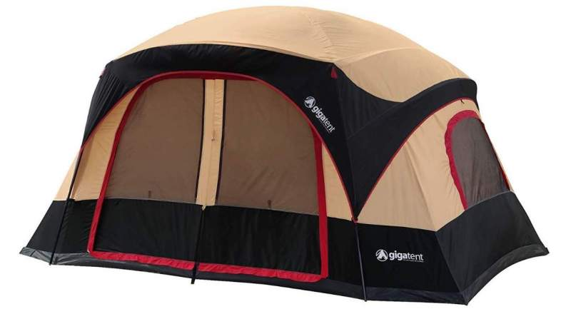 GigaTent Six Person Family Tent with fly.