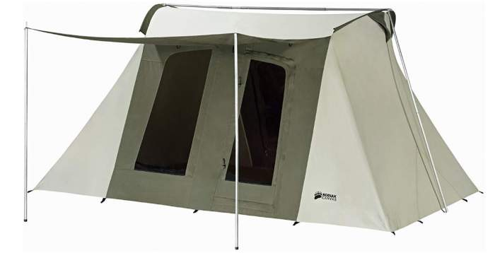 Kodiak Canvas Deluxe 8 person tent - great for every climate and all seasons.