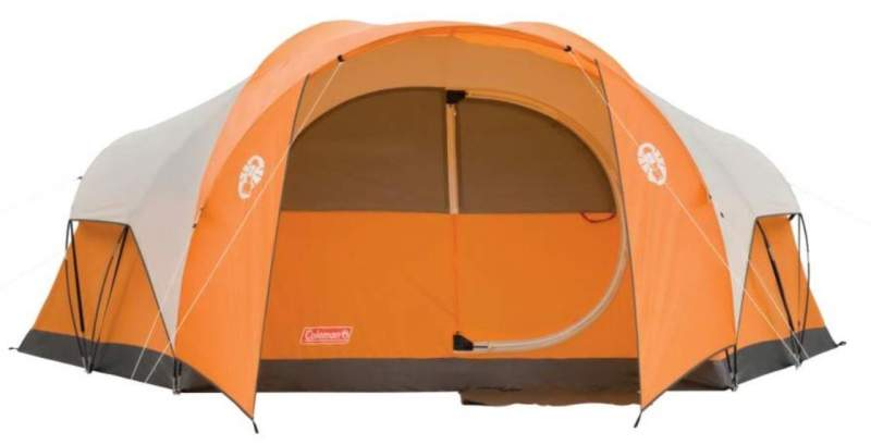 Coleman Bayside 8 person tent front view.