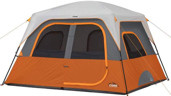 CORE 6 Person Straight Wall Cabin Tent 10' x 9'
