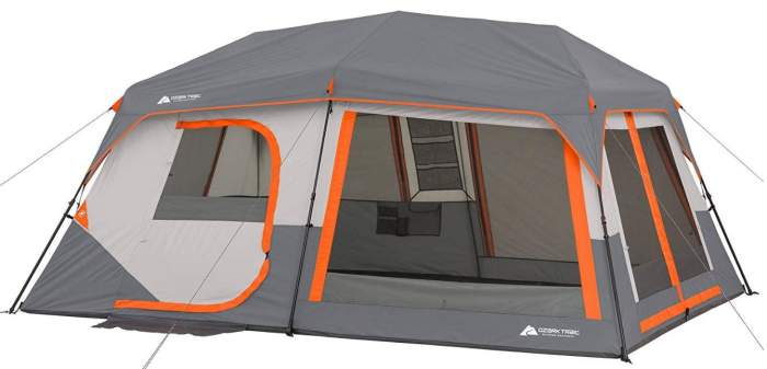 Ozark Trail Instant Cabin Tent with Built in Cabin Lights 10 Person.