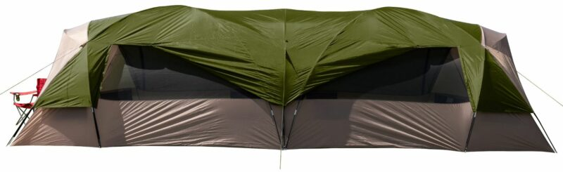 Ozark Trail Hazel Creek 20-Person Tunnel Tent side view.