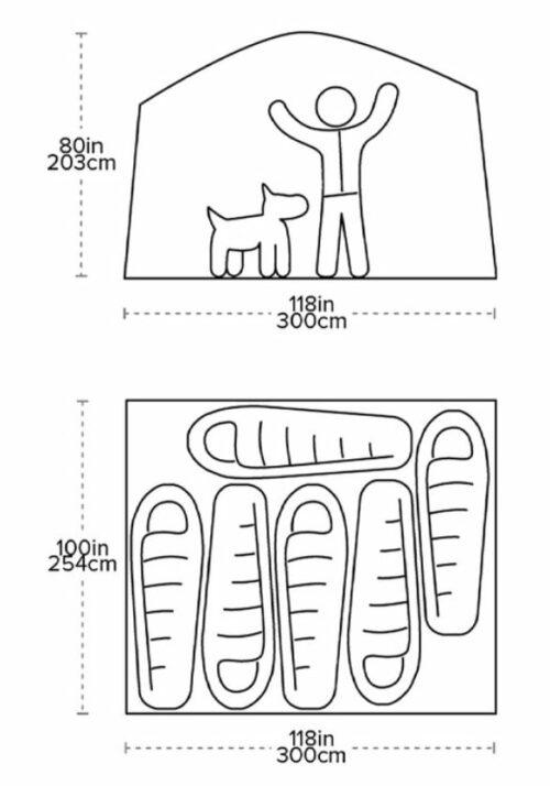 Big Agnes Dog House Camping Tent 6 Person Aluminum Poles