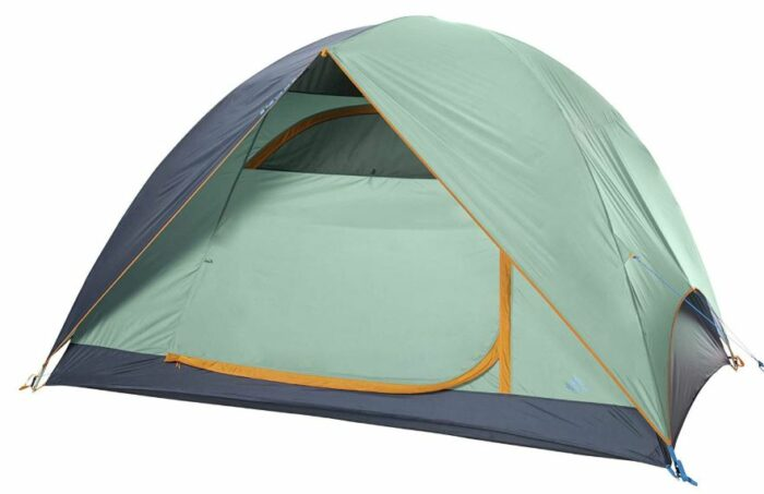 Kelty Tallboy 6 Tent - front view with the door closed.