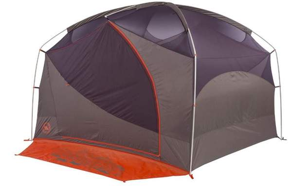The inner tent with poles is fully freestanding.