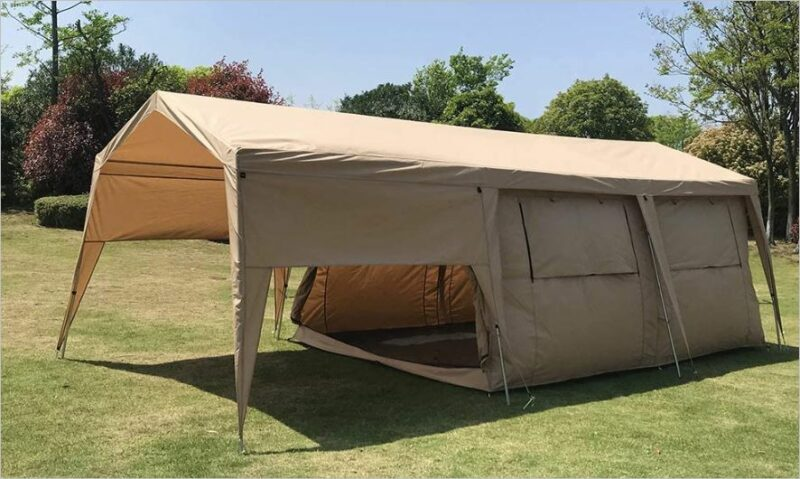 Dream House Double Layers Waterproof Safari Glamping Tent.