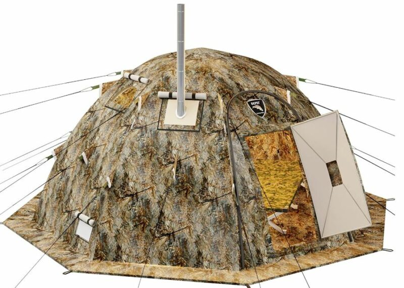 Russian-Bear Hot Tent with Stove Jack.