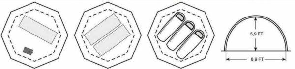 UP-2 Mini Tent floor plan.