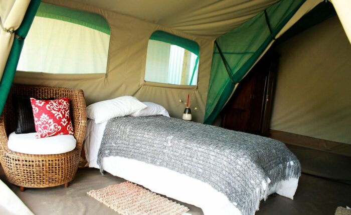 The tent built for luxury.