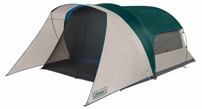 Coleman Cabin Camping Tent with Screen Room 6 person -the version without porch.